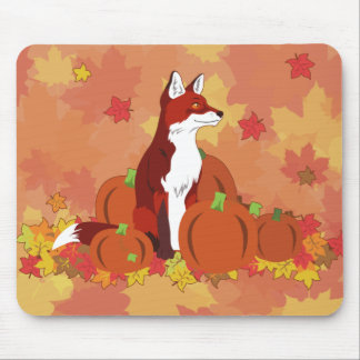 A Fox in the Pumpkin Patch Mouse Pad