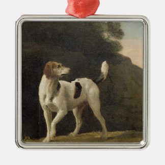 A Foxhound, c.1760 (oil on paper laid on board) Silver-Colored Square Decoration