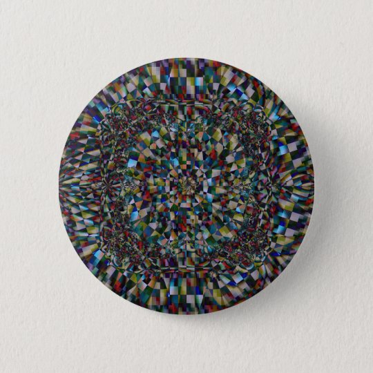A Fractal of a Chance (Button) 6 Cm Round Badge