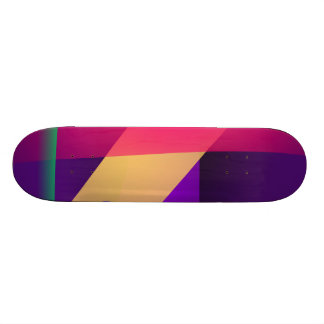 A Free Purple Abstract Space Skateboard Deck
