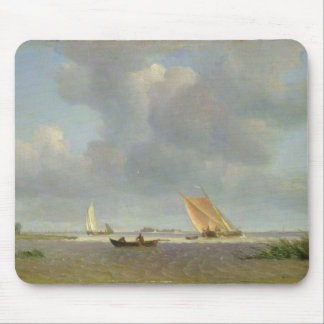 A fresh breeze on the Elbe, c.1830 Mouse Mat