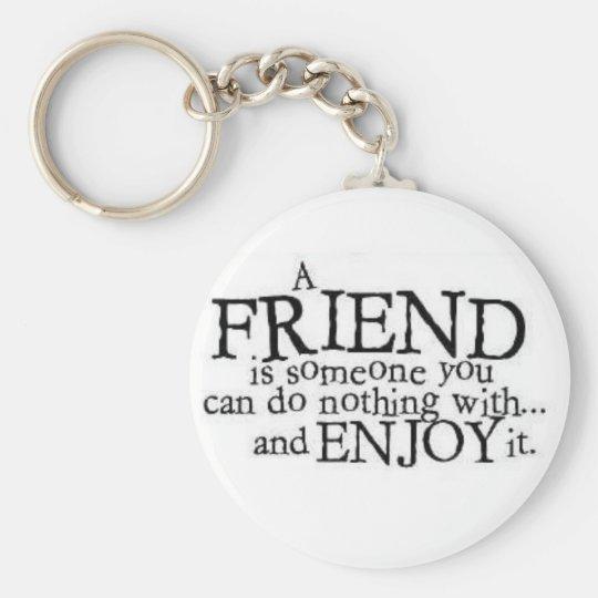 A Friend Basic Round Button Key Ring