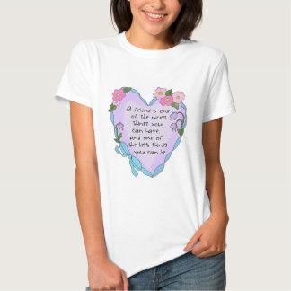 A Friend Heart Ladies Baby Doll Shirt
