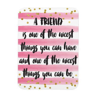 A friend is one of the nicest things you can have rectangular photo magnet