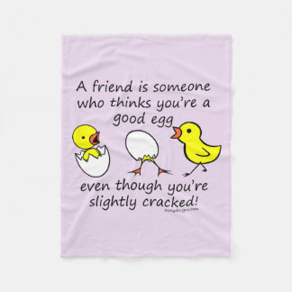 A Friend is Someone Funny BFF Saying Fleece Blanket