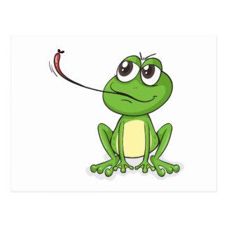 a frog postcard