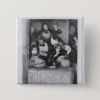 A front theatre box, engraved by Julien 15 Cm Square Badge
