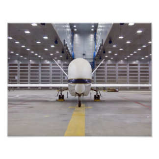 A front view of a Global Hawk unmanned aircraft Photo Print