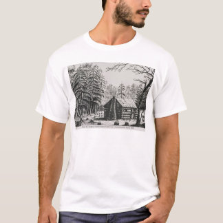 A frontier cabin, from 'The Pageant of America T-Shirt