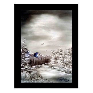 A Frosty Night - Postcard