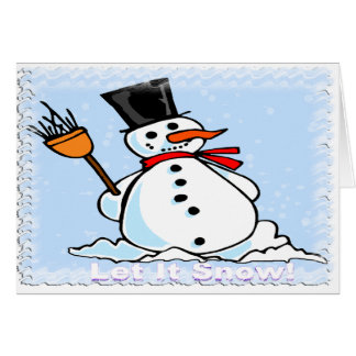 A Frosty Snowman Greeting Card