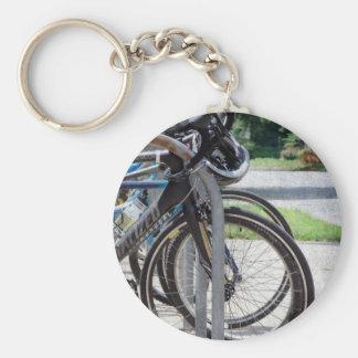 A Full Bike Rack Key Ring