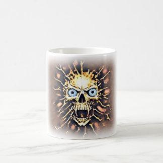 A Fuming, Roaring Skull on Coffee Mug
