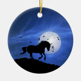 A Fun Day and Night Unicorn Xmas Ornament