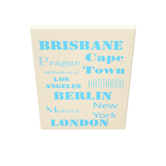 A Fun Personalized travel Canvas Print