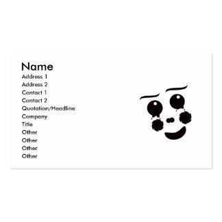A fun whimsical clown face design graphic business card templates