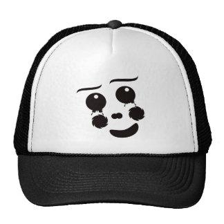 A fun whimsical clown face design graphic hat