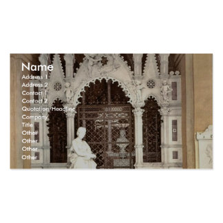 A funeral vault in the Campo Santo, Genoa, Italy v Business Card Template