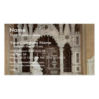 A funeral vault in the Campo Santo, Genoa, Italy v Business Cards