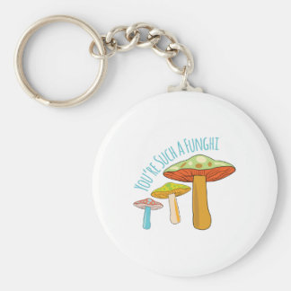 A Funghi Basic Round Button Key Ring