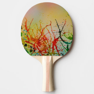 A Funky Coloured Table Tennis Bat Ping Pong Paddle