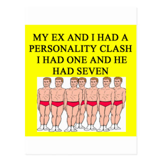 a funny divorce idea for you postcard