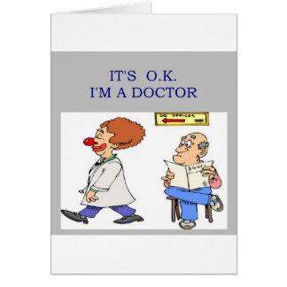 a funny doctor joke card