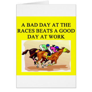 a funny horse player racing joke card
