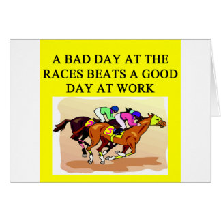 a funny horse player racing joke greeting cards
