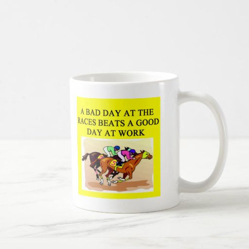 a funny horse player racing joke mug