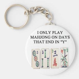 a funny mahjong design key ring