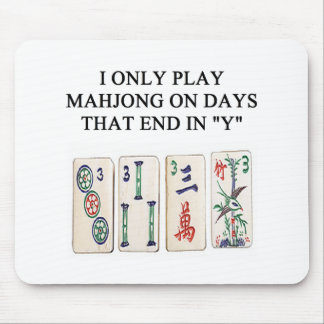a funny mahjong design mouse mat
