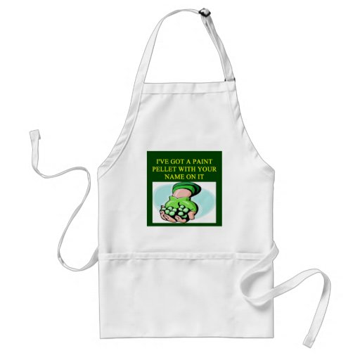 a funny paintball design aprons