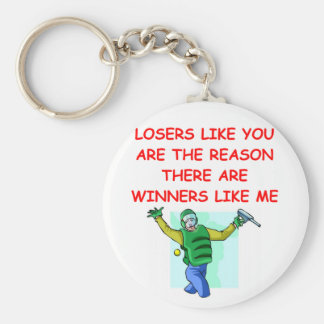 a funny winners and losers joke basic round button key ring