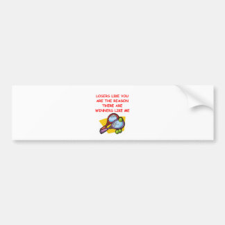 a funny winners and losers joke bumper sticker