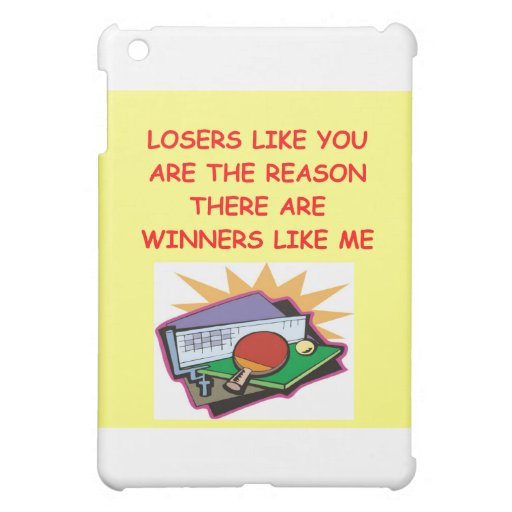 a funny winners and losers joke iPad mini cases