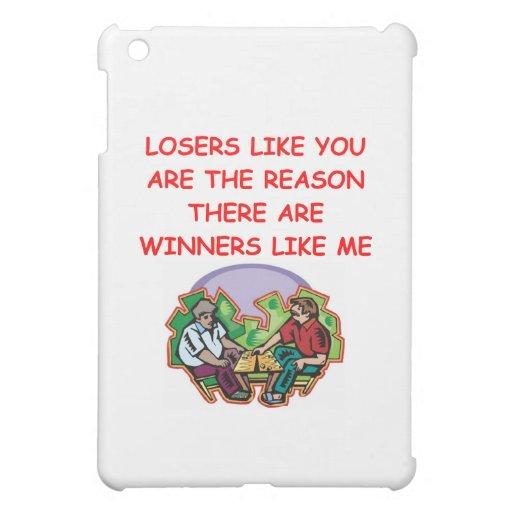 a funny winners and losers joke iPad mini case