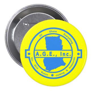 A.G.E., Inc. Blue Logo Button
