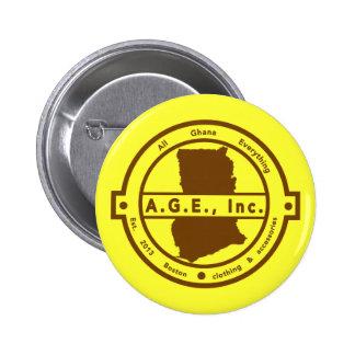 A.G.E., Inc. brown Logo Button