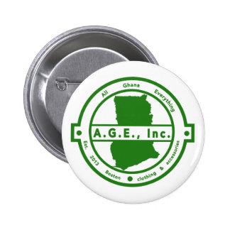 A.G.E., Inc. Green Logo button