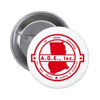 A.G.E., Inc. Red Logo Button