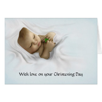 A Gaelic Christening Blessing Card
