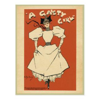 A Gaiety Girl Postcard