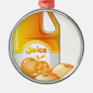 A gallon of orange juice christmas ornament