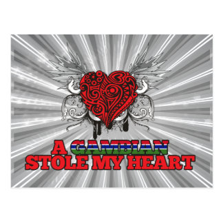 A Gambian Stole my Heart Postcard