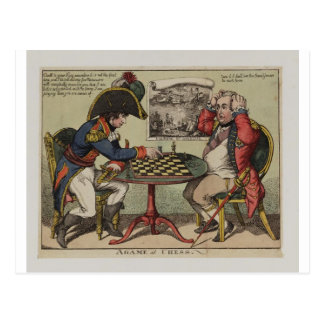 A Game At Chess Postcard