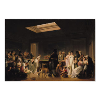 A Game of Billiards, 1807 Poster