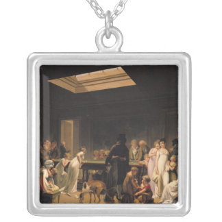 A Game of Billiards, 1807 Silver Plated Necklace