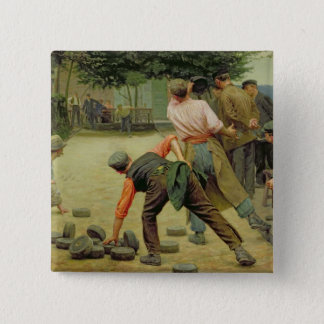 A Game of Bourles in Flanders, 1911 15 Cm Square Badge