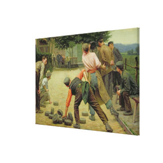 A Game of Bourles in Flanders, 1911 Canvas Print